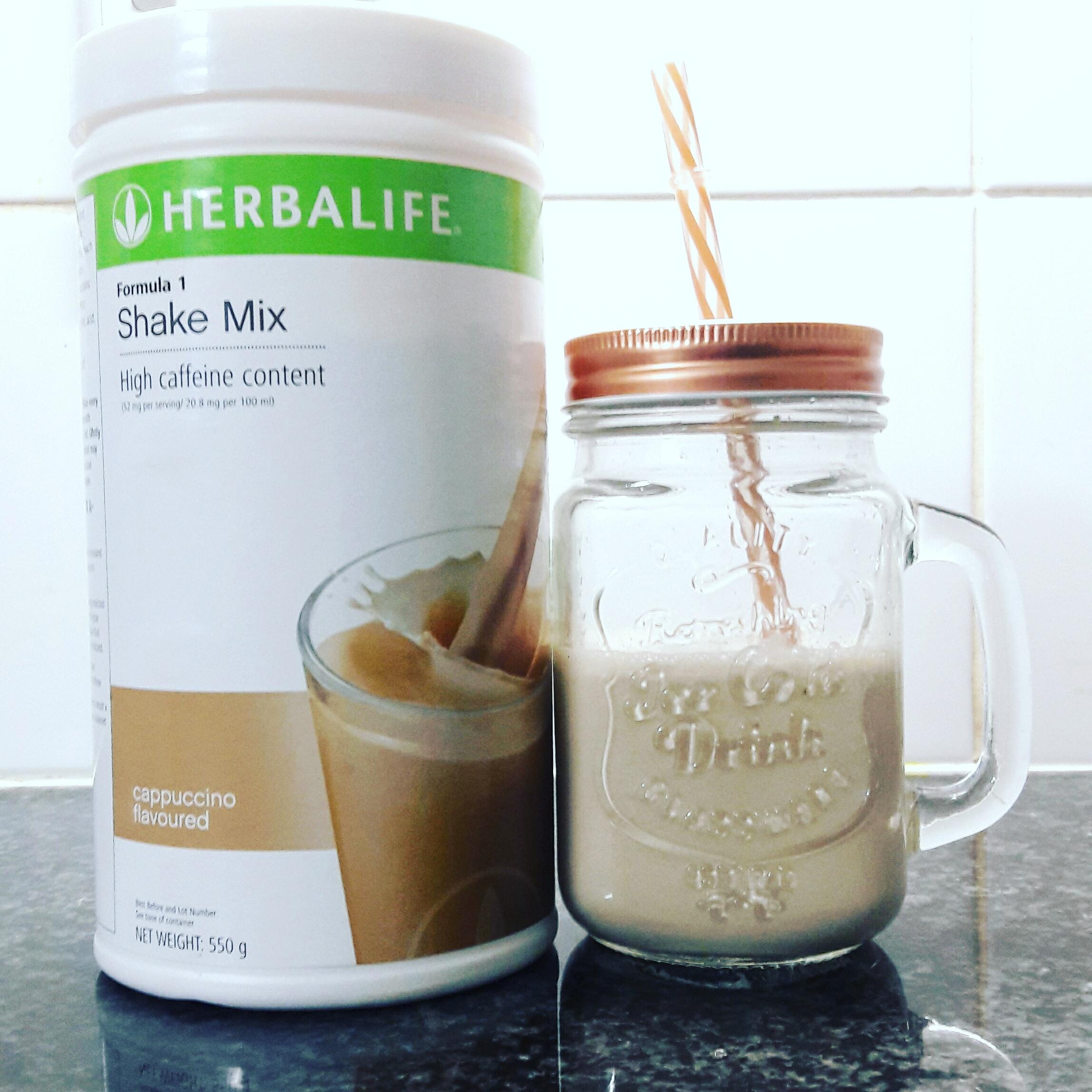 The New Herbalife Formula 1 Cappuccino Shake Mix - Life & Mo